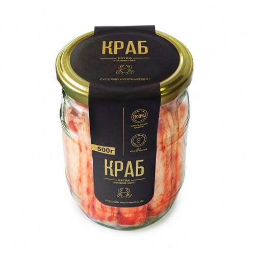 """Мясо краба """"Экстра"""" в с/с 500 гр"""
